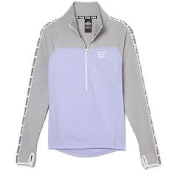 52b0b09febb45 VS pink ultimate track jacket zip logo lavender. M_5bf5df48619745745a55a093